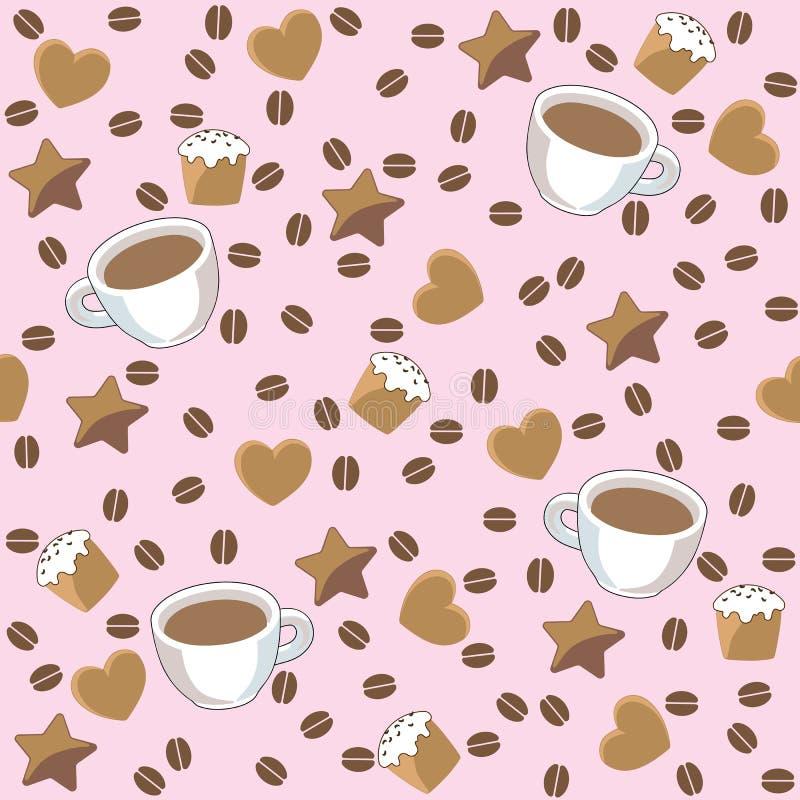Предпосылка кофе бесплатная иллюстрация