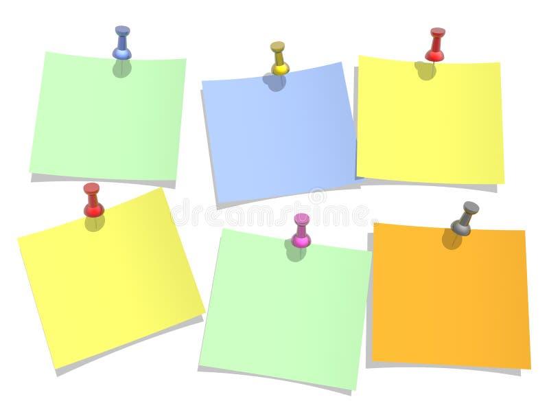 предпосылка красит бумагу прикалывано к белизне иллюстрация вектора