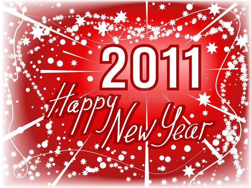 Предпосылка красного цвета Новый Год 2011 бесплатная иллюстрация