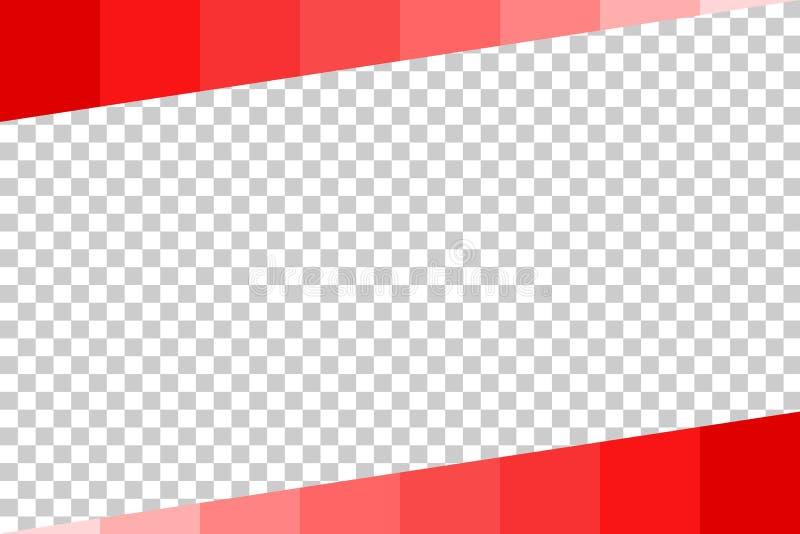 Предпосылка - красный постепенно бар, на прозрачной предпосылке влияния иллюстрация вектора