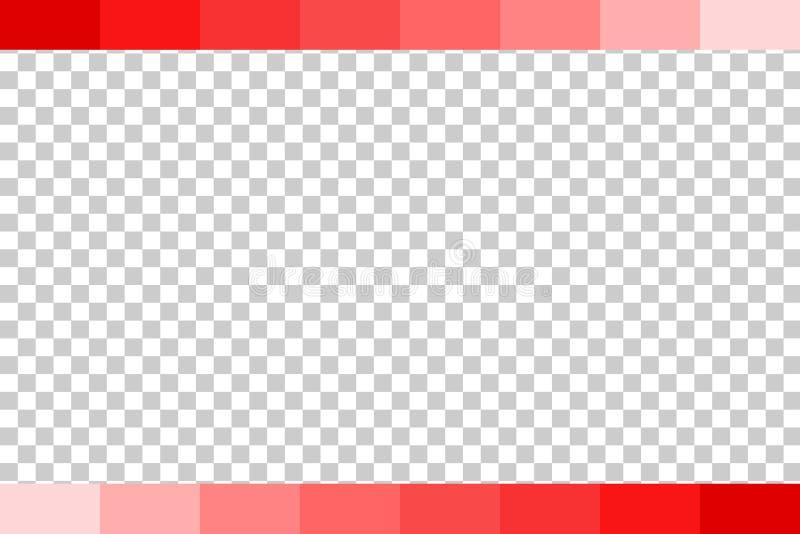 Предпосылка - красный постепенно бар, на прозрачной предпосылке влияния иллюстрация штока