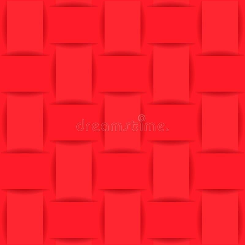 Предпосылка красных сплетенной ткани или бумаги иллюстрация штока