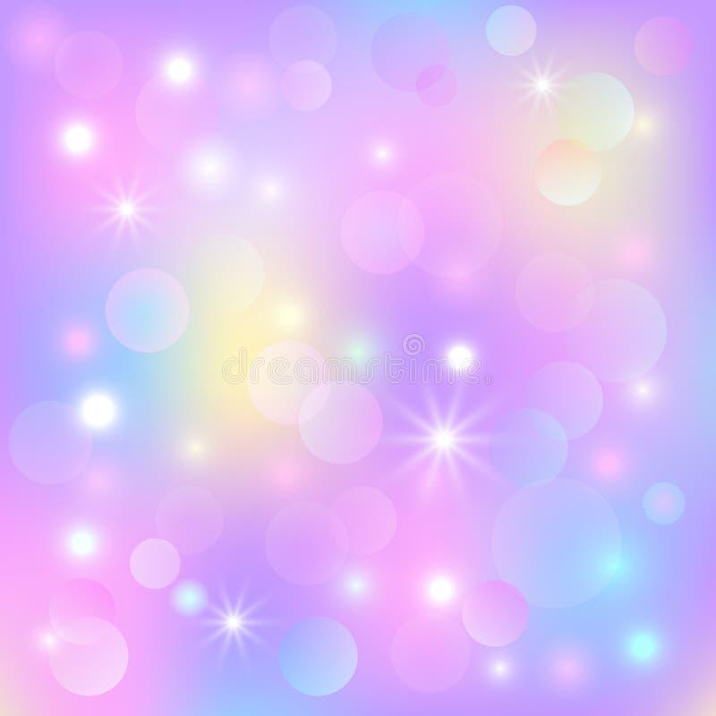 Предпосылка красоты вектора праздничная Шаблон с пирофакелом bokeh и объектива для поздравительная открытка рождества и Нового Го бесплатная иллюстрация