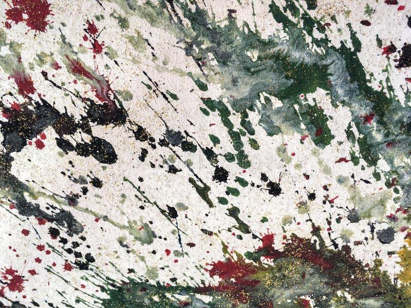 Предпосылка красочного брызгает белой и зеленой краски r стоковые изображения rf