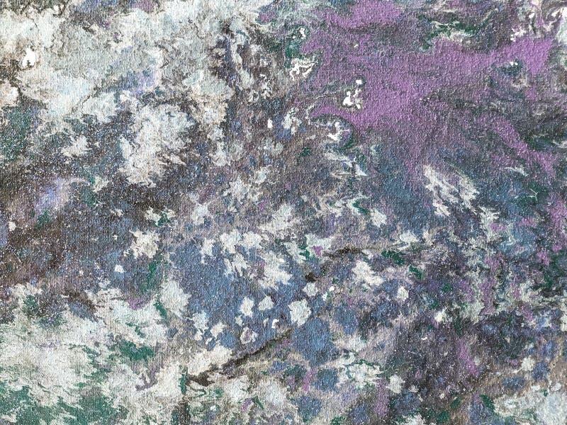 Предпосылка красочного брызгает голубой и пурпурной краски r стоковое фото