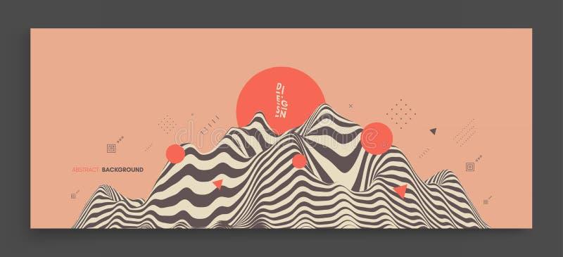 Предпосылка ландшафта местность Азиатская иллюстрация вектора бесплатная иллюстрация