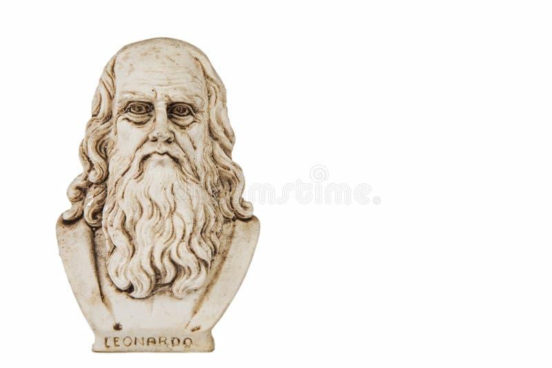 Предпосылка Леонардо Да Винчи прифронтовая белая стоковые изображения