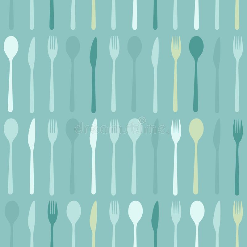 Предпосылка ложки, вилки и ножа бесплатная иллюстрация