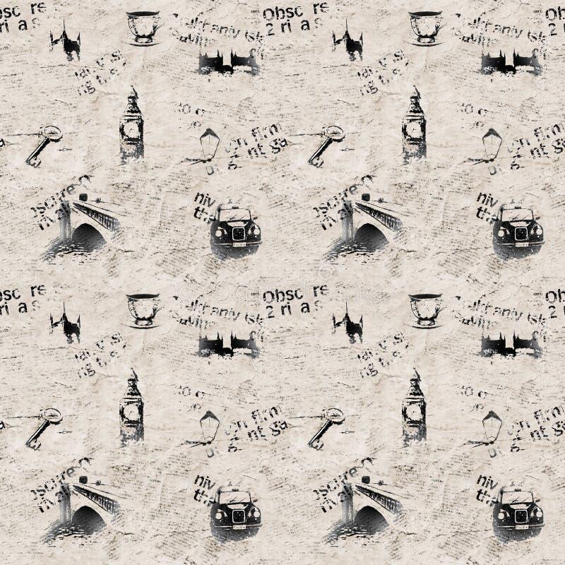 Предпосылка Лондона grunge газеты бесплатная иллюстрация