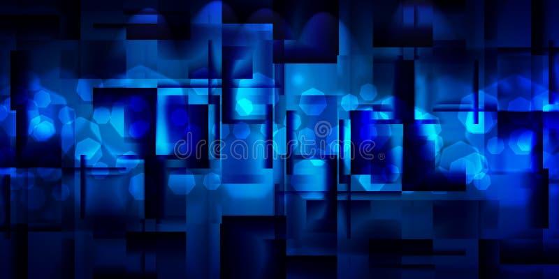 Предпосылка лоснистых квадратов иллюстрация вектора