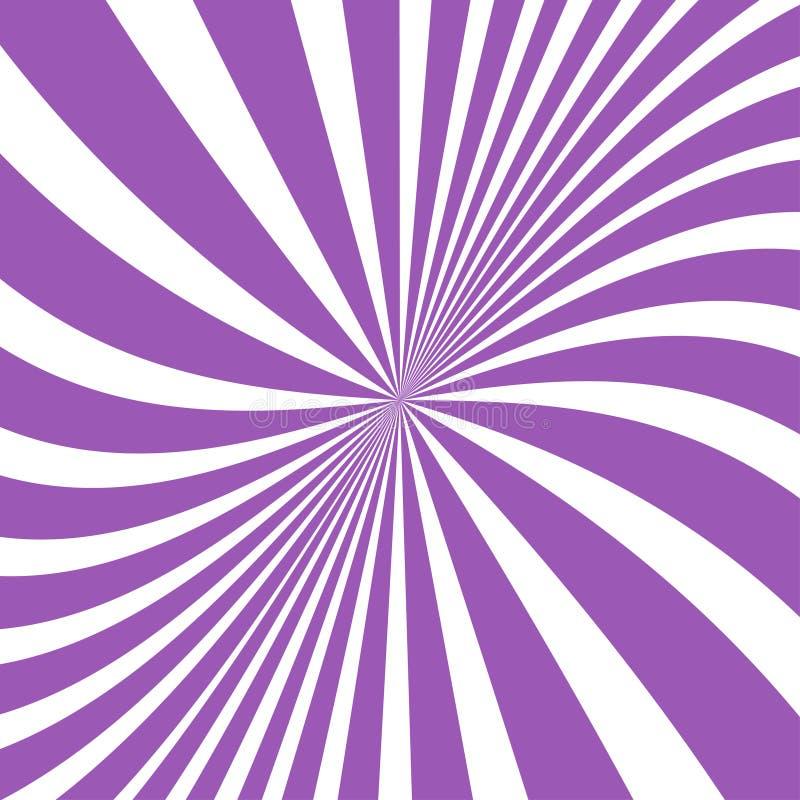 Предпосылка лучей Солнца Лучи Солнца в спиральном дизайне Солнце излучает фиолетовый цвет r иллюстрация вектора