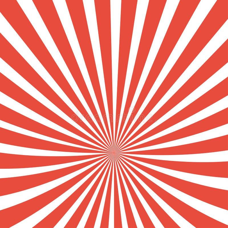 Предпосылка лучей Солнца Лучи Солнца в спиральном дизайне Солнце излучает красный цвет r бесплатная иллюстрация