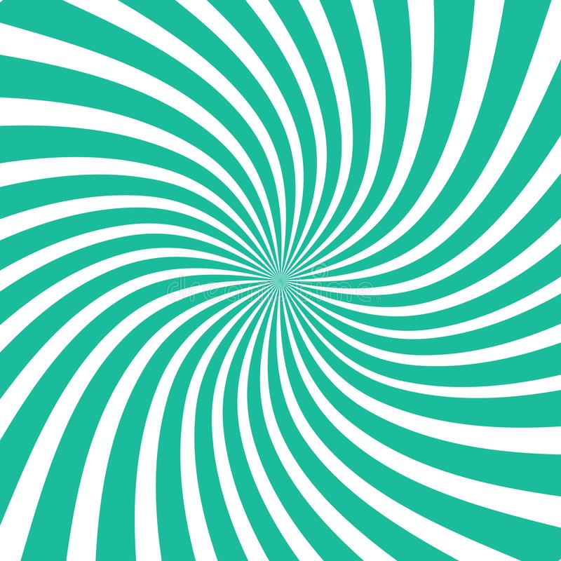 Предпосылка лучей Солнца Лучи Солнца в спиральном дизайне Солнце излучает зеленый цвет r бесплатная иллюстрация