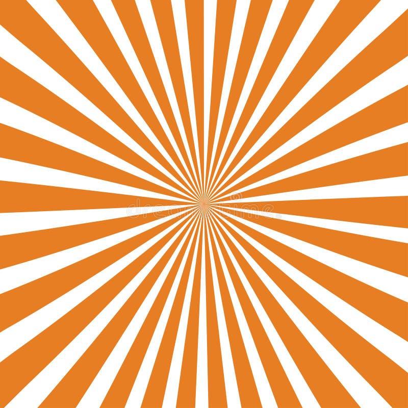 Предпосылка лучей Солнца Лучи Солнца в спиральном дизайне Солнце излучает оранжевый цвет r иллюстрация вектора