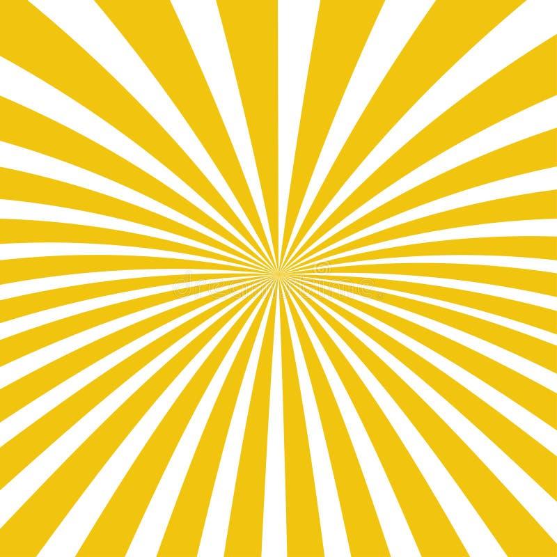Предпосылка лучей Солнца Лучи Солнца в спиральном дизайне Солнце излучает желтый цвет r иллюстрация штока