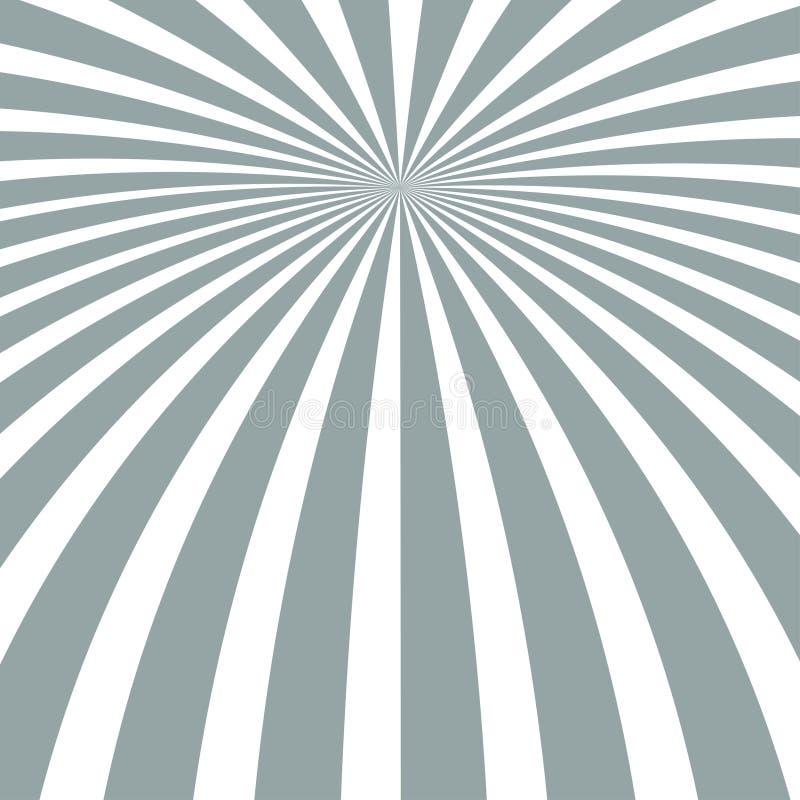 Предпосылка лучей Солнца Лучи Солнца в спиральном дизайне Солнце излучает серый цвет r иллюстрация штока