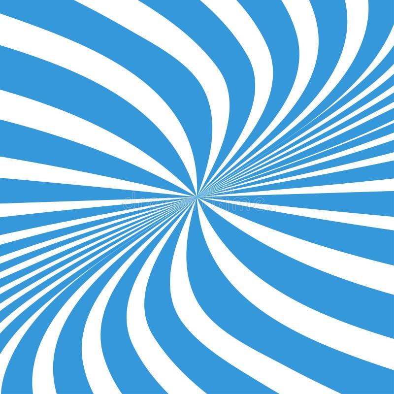 Предпосылка лучей Солнца Лучи Солнца в спиральном дизайне Солнце излучает голубой цвет r бесплатная иллюстрация