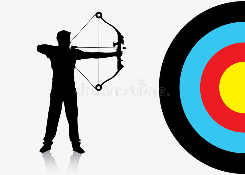 Предпосылка лучника спорта иллюстрация штока
