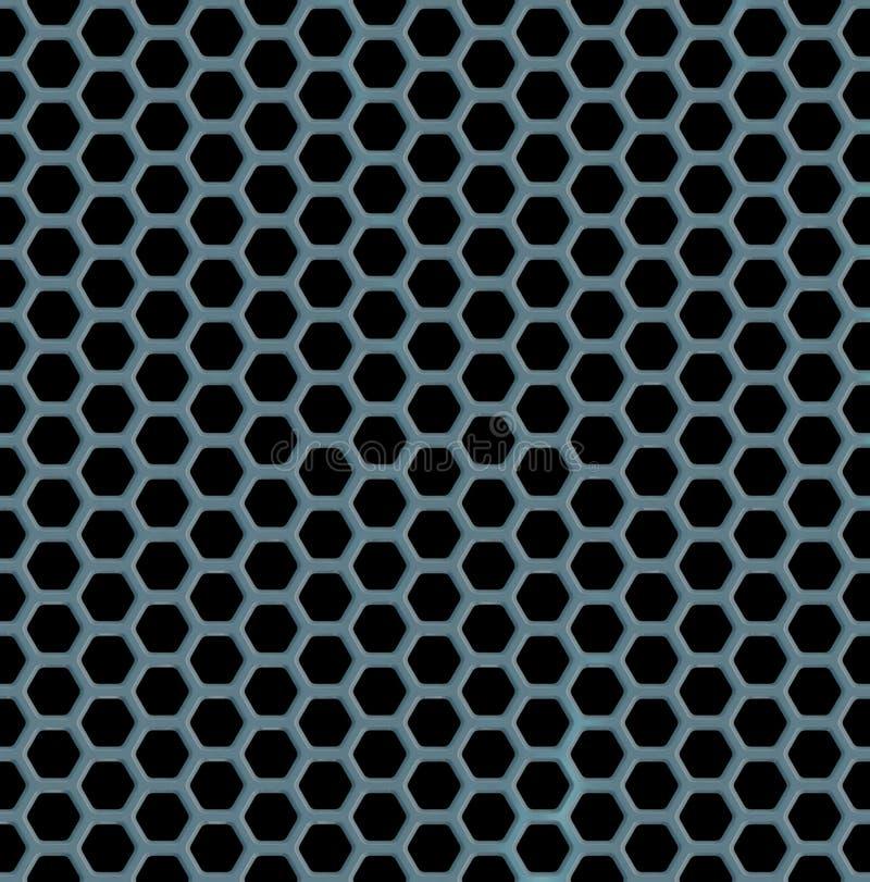 Предпосылка металла шестиугольника безшовная иллюстрация вектора