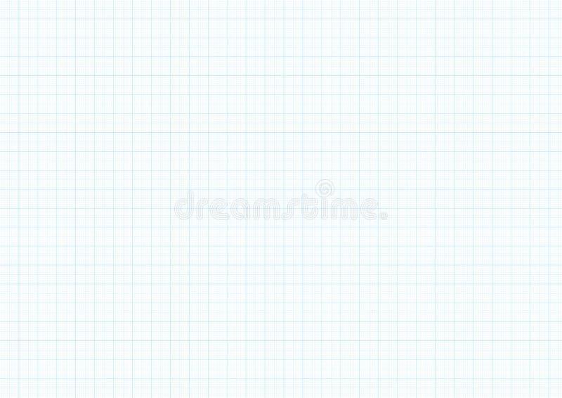 Предпосылка миллиметровки с линией правителя текстурой миллиметра вектора голубой прокладывая курс решетки гида для проектировать бесплатная иллюстрация