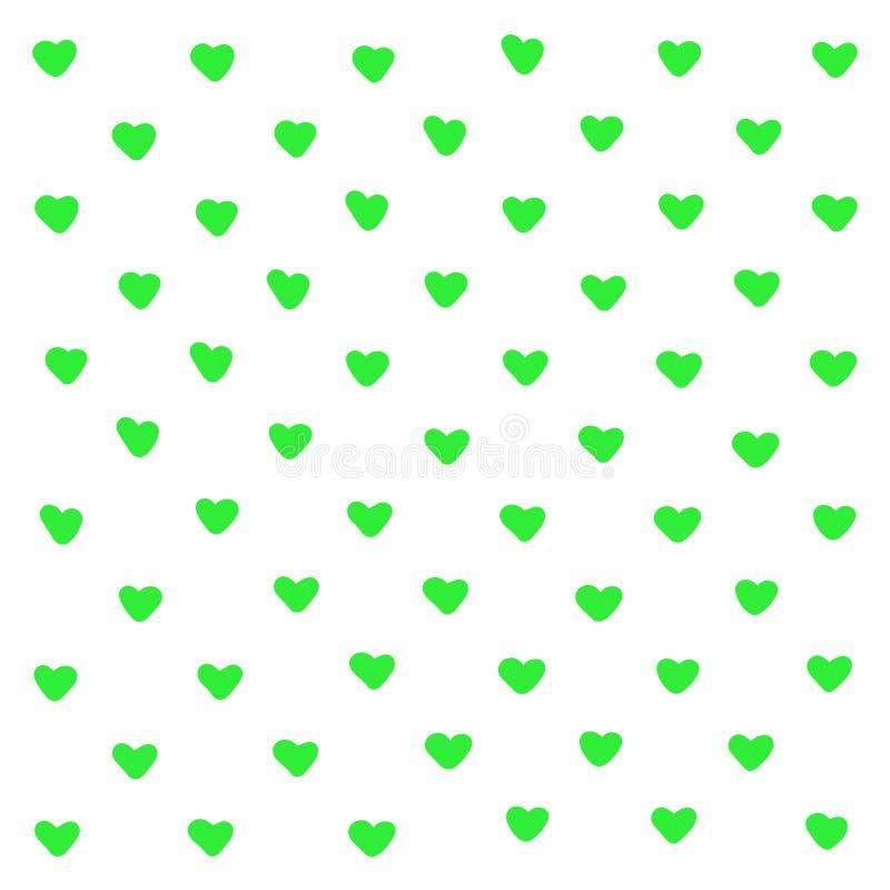 Предпосылка милых зеленых сердец абстрактная Геометрические формы сердца текстуры Для картины, поздравительная открытка, печать ф иллюстрация штока