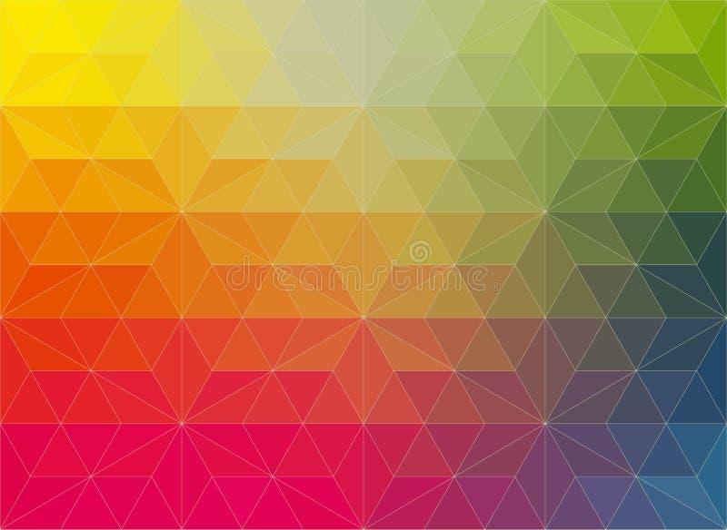 Предпосылка мозаики вектора полигональная в цветах радуги бесплатная иллюстрация