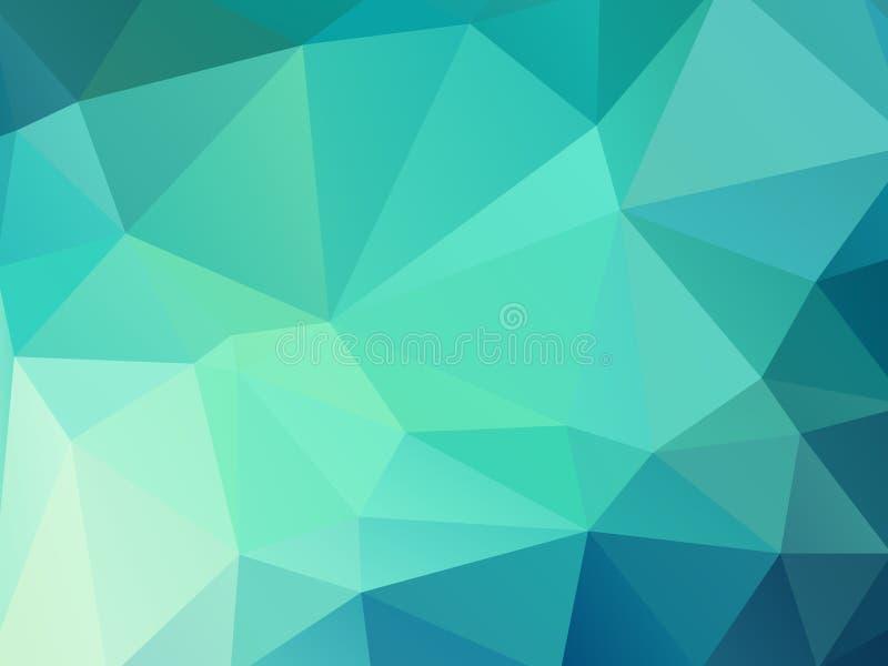 Предпосылка мозаики зеленого цвета геометрическая иллюстрация вектора