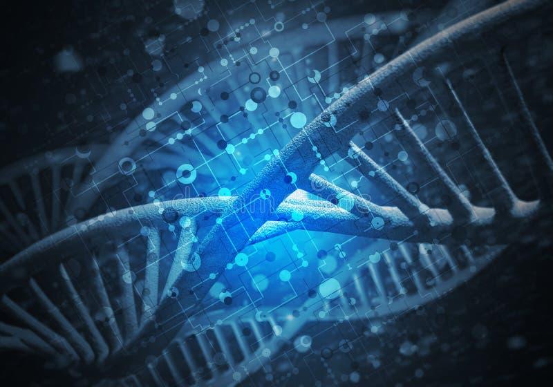 Предпосылка молекул ДНК стоковые фото