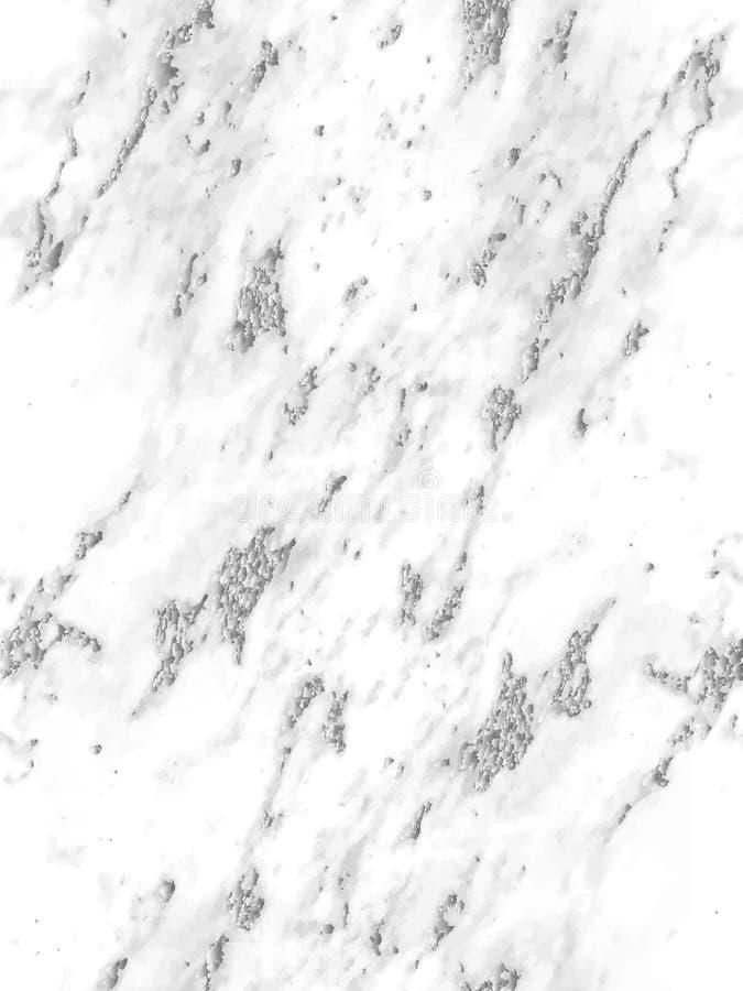 Предпосылка мраморной серебряной текстуры безшовная Абстрактный серебряный яркий блеск мраморизуя безшовную картину для ткани, пл иллюстрация вектора