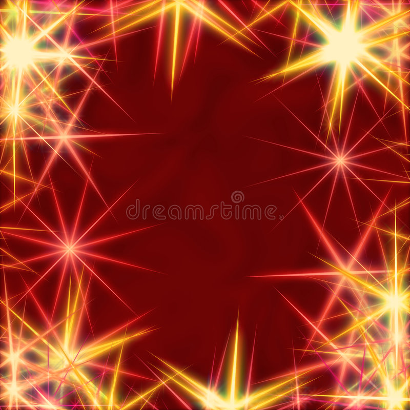 предпосылка над красным желтым цветом звезд бесплатная иллюстрация