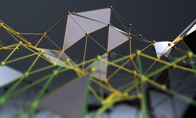 Предпосылка науки и техники Дело и соединение иллюстрация вектора