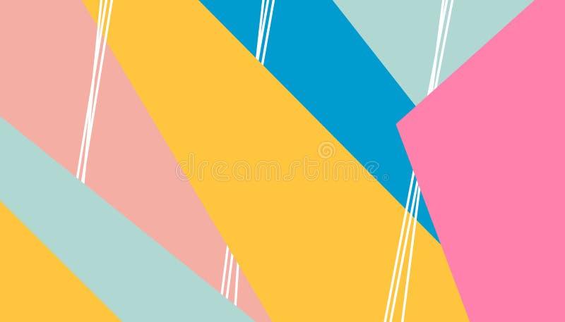 Предпосылка нашивок картины конспекта яркая покрашенная для дизайна крышки Шаблон дизайна вектора для летчика, листовки, журнала иллюстрация вектора