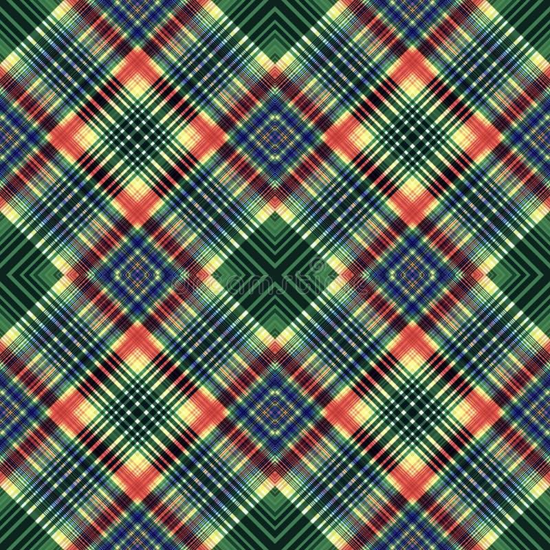 Предпосылка нашивок, квадратный тартан, картина безшовная, ткань прямоугольника решетки иллюстрация вектора