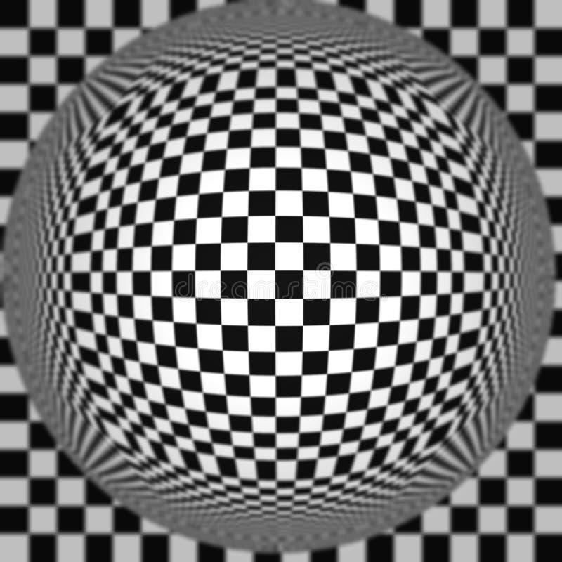 Предпосылка нашивок обмана зрения шарика вектора черно-белая переплетенная абстрактная бесплатная иллюстрация