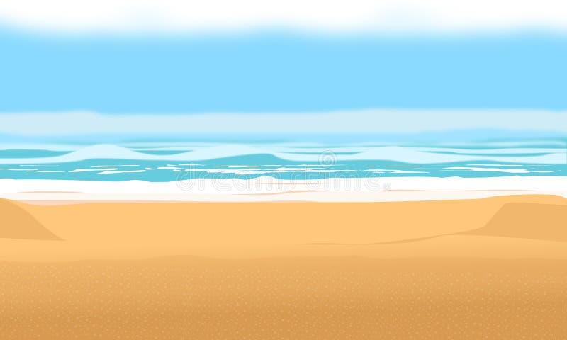 Предпосылка на пляж и каникулы лета r иллюстрация штока