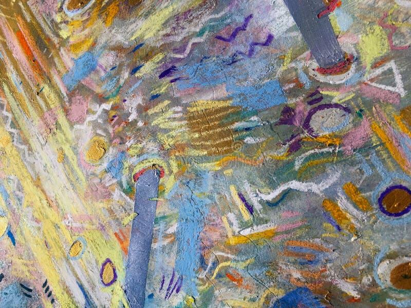 Предпосылка неба золота экспрессионизма Ультрамодная крася текстура бесплатная иллюстрация