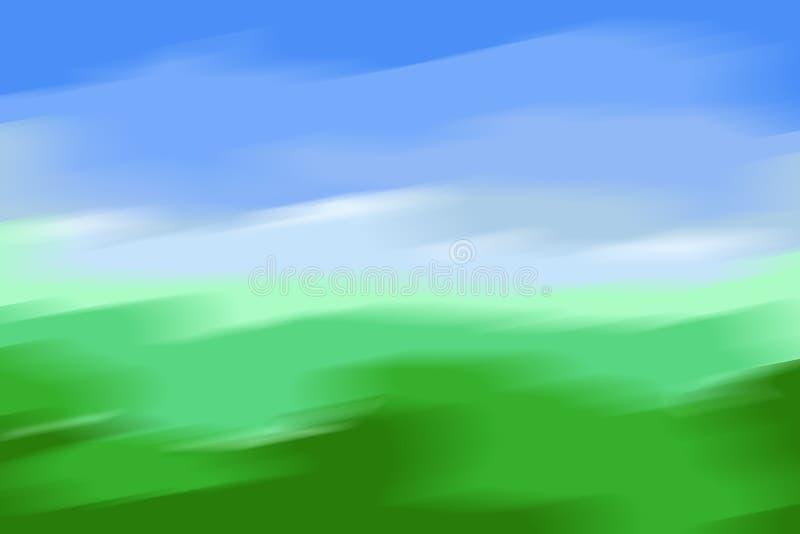 Предпосылка неба и травы абстрактная бесплатная иллюстрация
