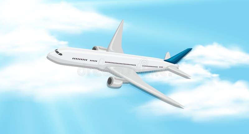 Предпосылка неба с летанием аэроплана бесплатная иллюстрация