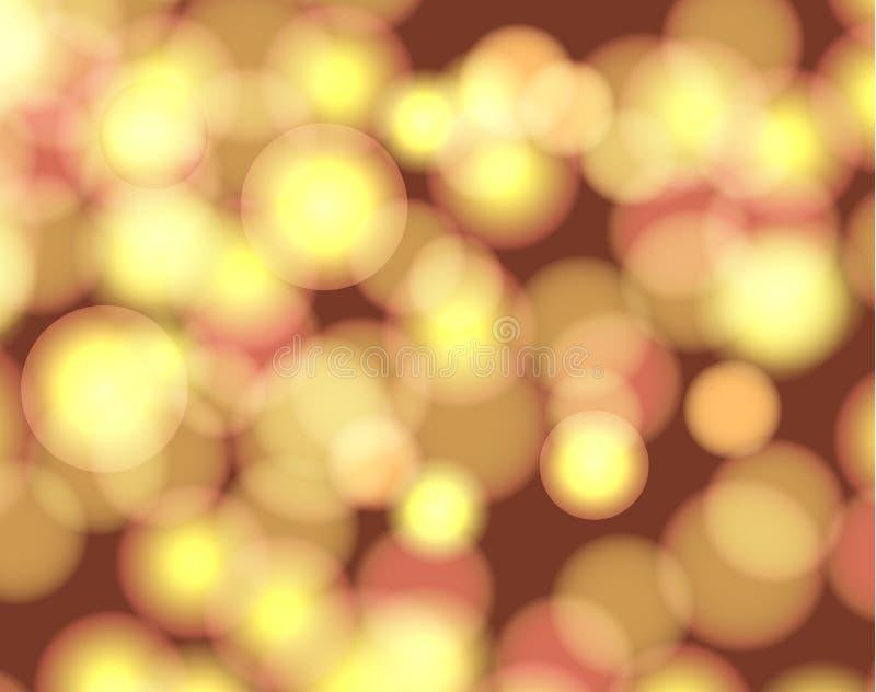 Предпосылка нерезкости конспекта вектора, сияющая иллюстрация, светлая - желтый блестящий фон, круги иллюстрация штока