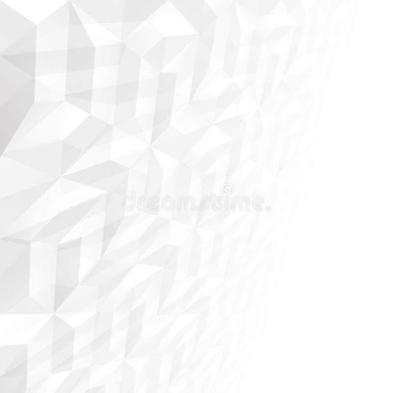 Предпосылка нижнего света вектора конспекта с перспективой Белые и серые геометрические формы - текстура плитки иллюстрация вектора