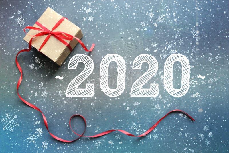 2020 Предпосылка Нового Года, состав рождества стоковое изображение rf
