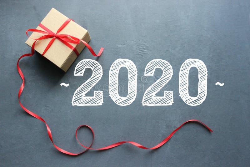 2020 Предпосылка Нового Года, состав рождества стоковая фотография rf