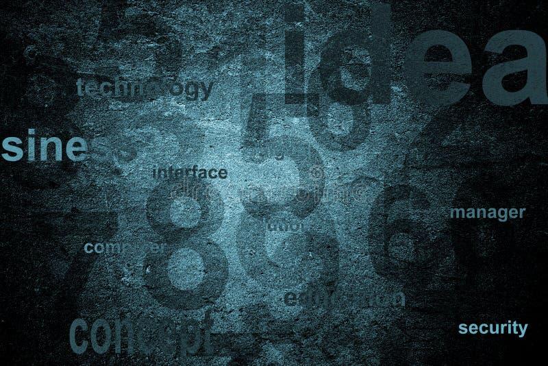 предпосылка нумерует технологию стоковое изображение rf