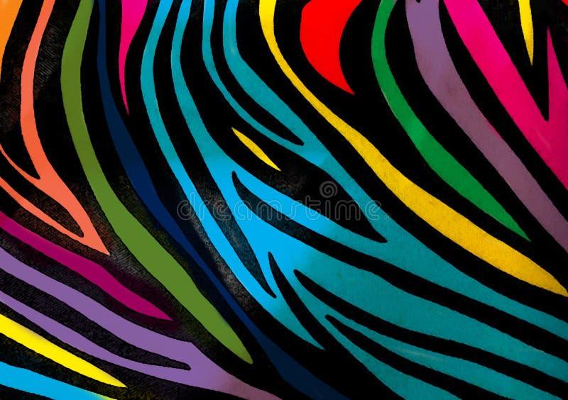Предпосылка обоев печати зебры животная стоковые фотографии rf