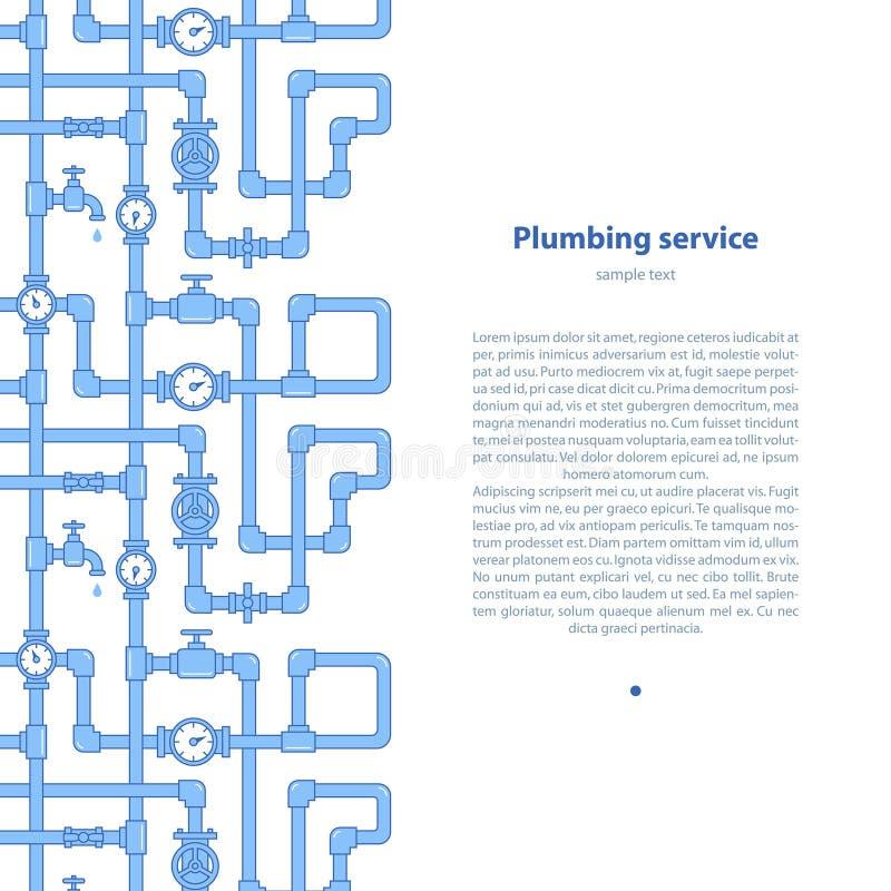 Предпосылка обслуживания трубопровода с текстовым участком стоковое изображение