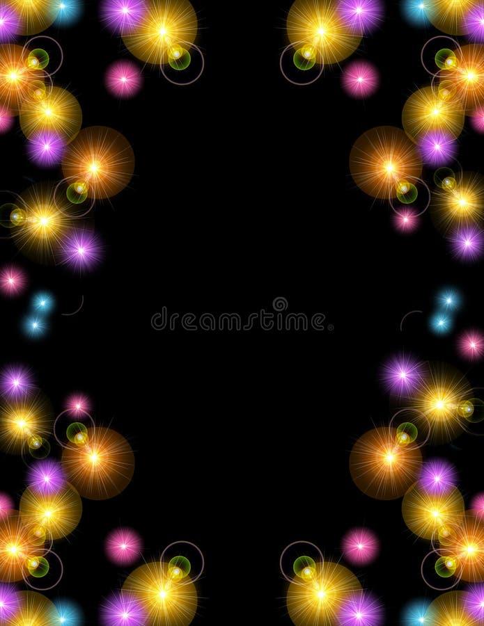 предпосылка освещает партию иллюстрация вектора