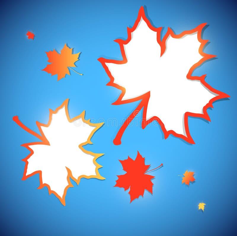 предпосылка осени обрамляет клен листьев иллюстрация вектора