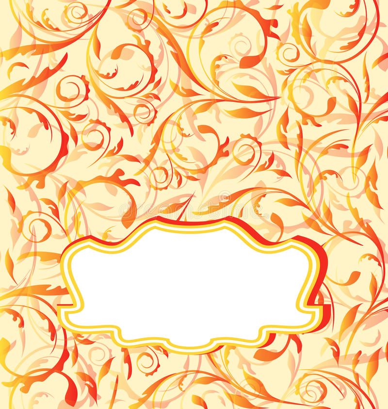 Предпосылка осени померанцовая, безшовная флористическая текстура иллюстрация штока