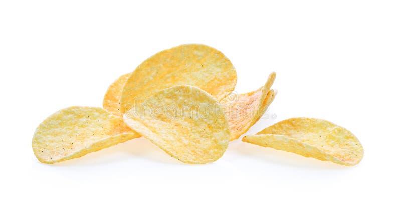 предпосылка откалывает белизну серии картошки старья изображения еды стоковые фотографии rf