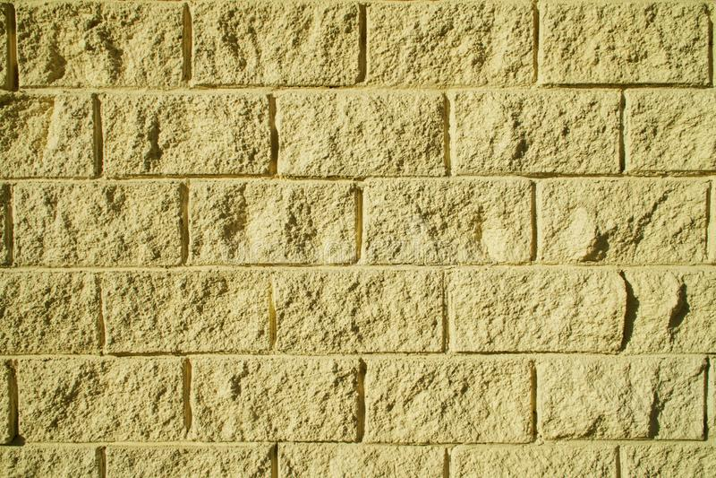 Предпосылка от декоративной имитации bricklaying светлого - желтый цвет стоковые фотографии rf